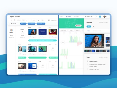 Tahometer - time-tracking app for teams productivity redesign analytics ux ui project management tracking report responsive app