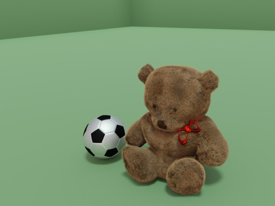 teddy and football blender 3d football teddybear
