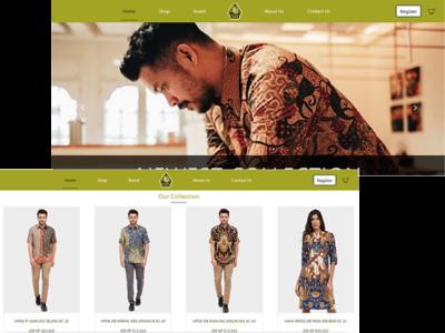 Redesign Landing Page Batik Semar