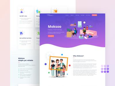 Moksoo Webpage Design