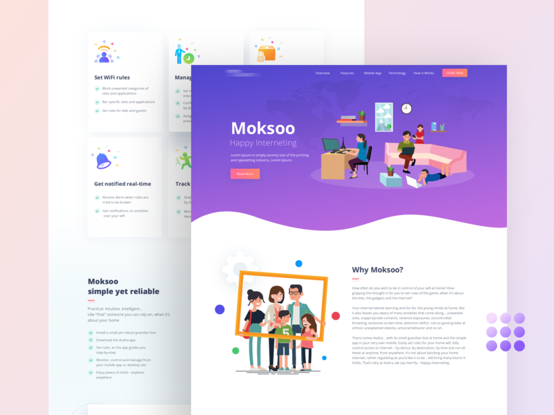 Moksoo Webpage Design creative business family illustration 2019 latest design page web website design agency ux ui site