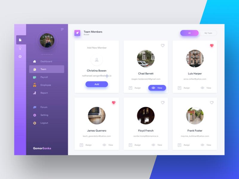 Gomor Sonka Dashboard Design panel team web dashboad ux ui