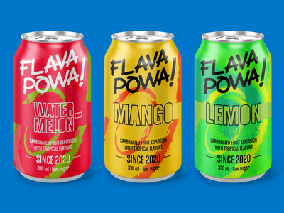 Flava Powa - Carbonated Drink for Dribbble weekly warmup