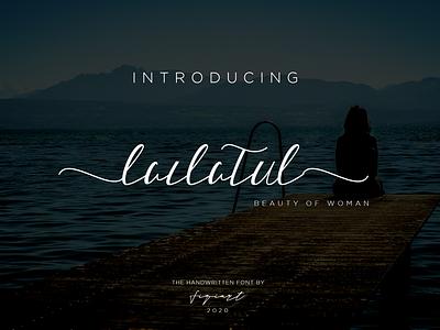 Lailatul Font Signature typography branding font script font signature