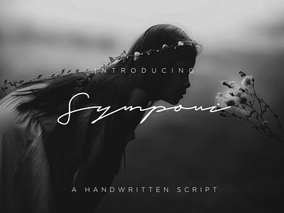 Symponi Font Signature design typography branding illustration font bundle font design font signature