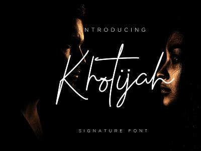 Font Khotijah Signature branding logotype font bundle design illustration typography font signature font script font design signature font