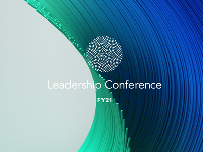 Intuit Leadership Conference event visual identity typography iconography 3d design branding