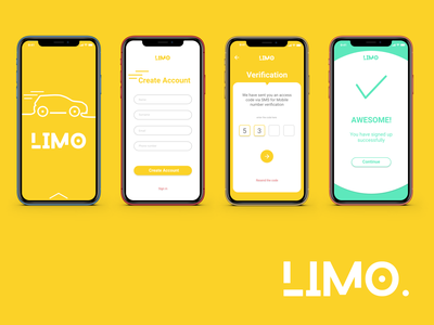 Limo carpooling app Mockup app concept graphic branding iphone signup interface ux  ui ui design mock up carpooling
