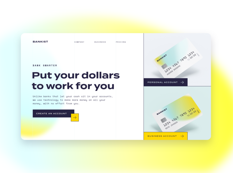 Screen Per Day—004 desktop web design website bank app banking bank ui design ui