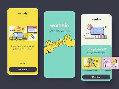Screen Per Day—015 loading onboarding mobile ui mobile interface app design credit builder icons8 abstract illustration design app visual design ui design ui