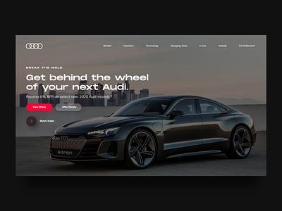 Screen Per Day—016 automotive auto homepage audi redesign web web design desktop visual design ui design ui