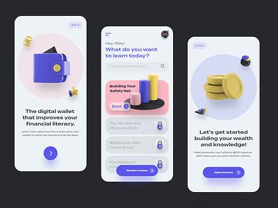 Screen Per Day—017 ux design ui ux 3d illustration illustraion 3d fintech app fintech interface design banking bank app app visual design ui design ui