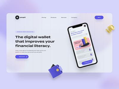 Screen Per Day—018 3dillustration 3d illustraion bank banking bank app web web design desktop app visual design ui design ui