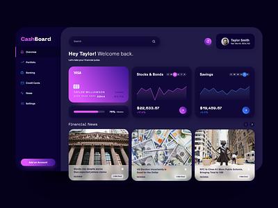 Screen Per Day—019 dashboard design dashboard ui uichallenge dailyui finance banking interface dashboard desktop visual design ui design ui