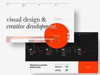 Screen Per Day—023 design studio portfolio site portfolio design studio design agency graphic design portfolio web web design desktop visual design ui design ui