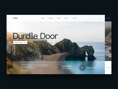 Screen Per Day—024 design traveling travel dorset england web web design desktop visual design ui design ui