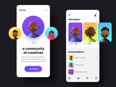 Screen Per Day—028 app design mobile app community app community 3d illustration 3d design illustration app visual design ui design ui
