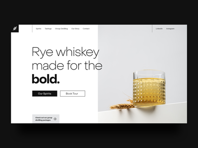Minimalist Rye Whiskey Site minimalism minimalist minimal whiskey design branding web web design desktop visual design ui design ui