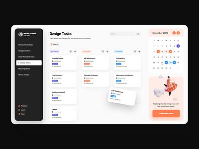 Workflo Dashboard 3d illustration visual design product ux ui app task management app task manager ux design ui design ui  ux product design desktop dashboard