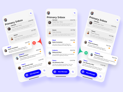 Email App with Liquid Swipe Interactions interaction design swipe liquid email app email ios design app design ui design ui