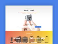 Fidget Cube Landing Page
