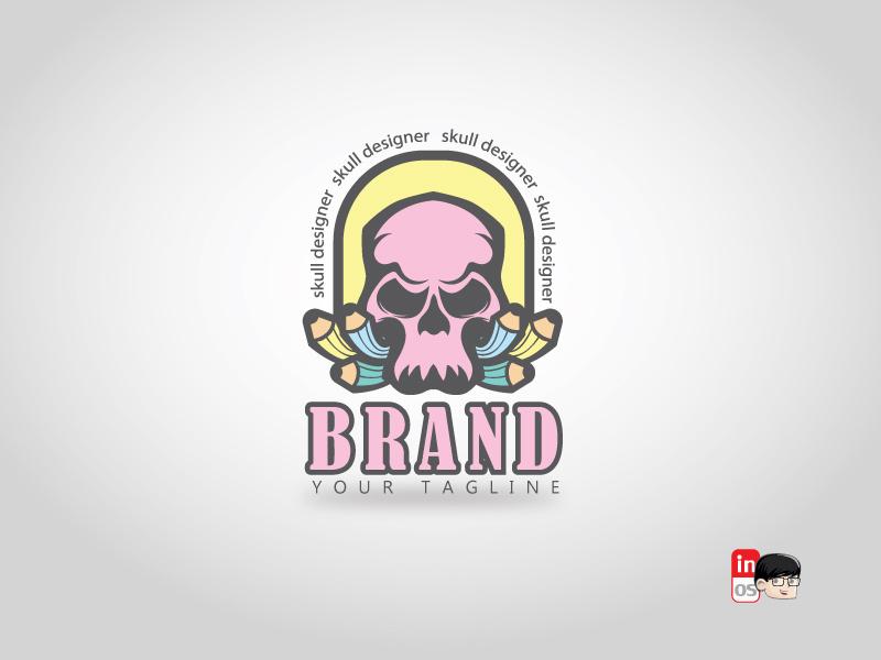 Skull creative logo logo for sale creative  design skull mascot vector icon esportlogo esport brand logos idea logos logo 2d logo illustration designer design branding adobeillustrator