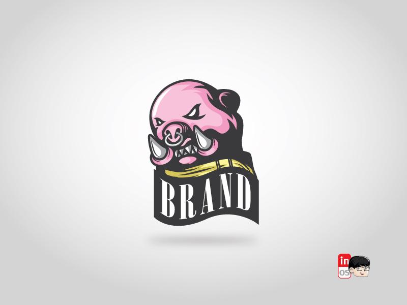 The Boar logo boar animal mascot vector ui ux icon esportlogo esport brand logos idea logos logo 2d logo illustration designer design branding adobeillustrator
