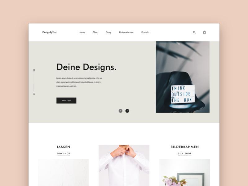 Modern eCommerce Website ecommerce modern illustration design home minimal web ux ui ui  ux