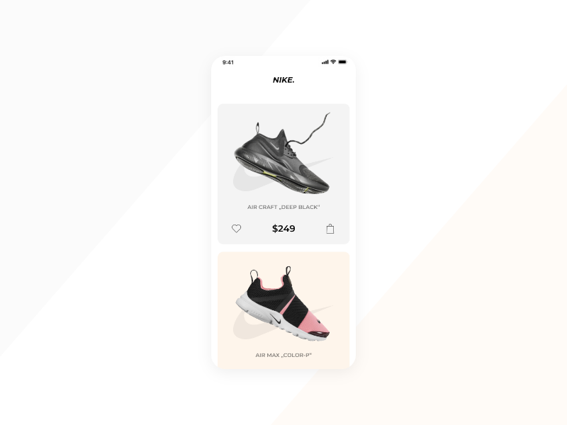 Product Page mobile app minimal ecommerce ui  ux ux ui design