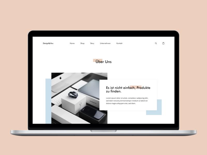 About Us Page modern ecommerce web ui  ux ui ux design minimal