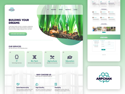Landing Page for educational company educational education rebranding redesign logo agency website agency web design branding website landing page