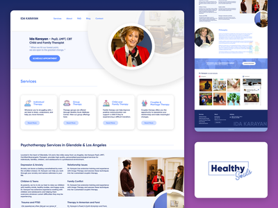 Landing Page and Blog for Family Therapist doctor appointment doctor psychologist psychology therapist redesign agency website agency web design branding website landing page