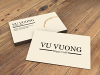 Coffee visit (business) cards