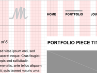 Personal Site Wireframe
