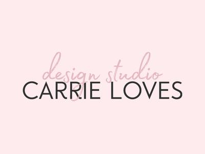 Carrie Loves Design Studio design branding logo