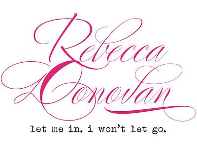 Rebecca Donovan typography logo design branding