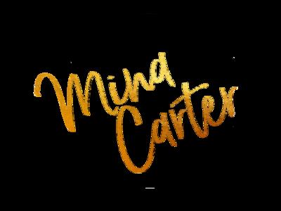Mina Carter metallic illustration typography logo design branding