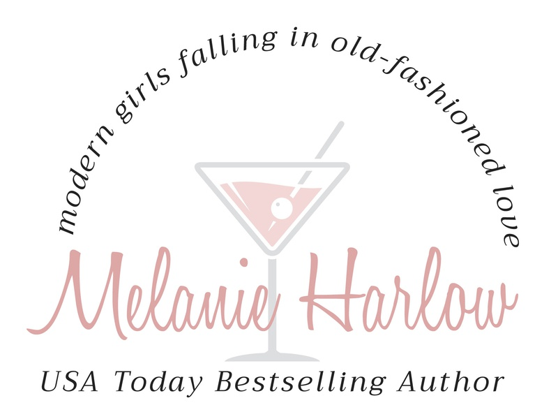 Melanie Harlow illustration logo typography design branding