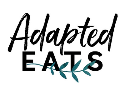 Adapted Eats watercolor illustration typography logo design branding