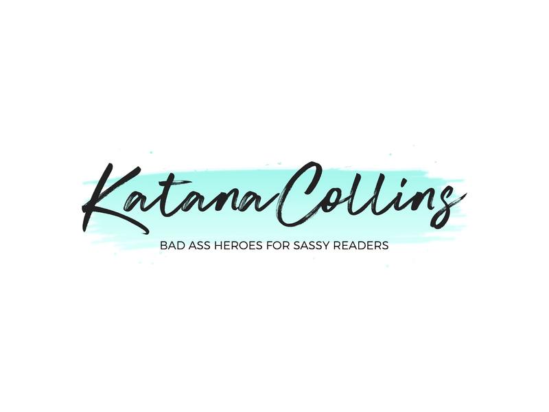 Katana Collins watercolor illustration typography logo design branding