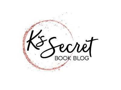 K's Secret Book Blog metallic illustration logo typography design branding