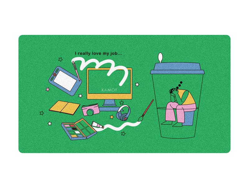 Working mode illustrate illustration