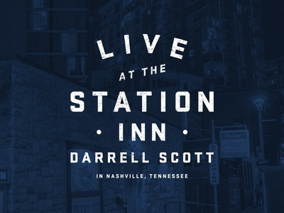 Darrell Scott Live Cover nashville typography album cover
