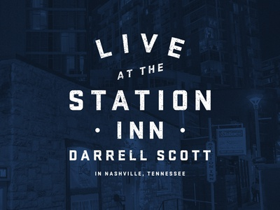 Darrell Scott Live Cover nashville typography album cover