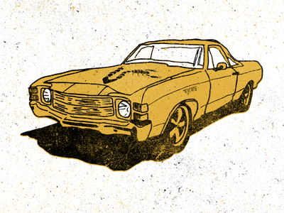 El Camino nashvile illustration poster