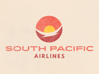 South Pacific Air airline branding daily challenge logo