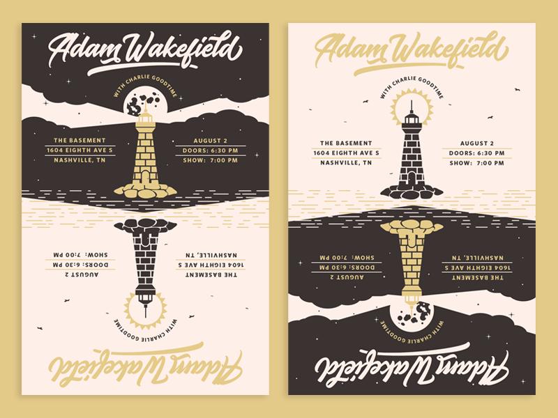 Adam Wakefield Lighthouse illustration music nashville print show poster poster design poster art posters poster