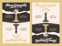 Adam Wakefield Lighthouse illustration music nashville print show poster poster design poster art posters poster