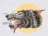 Wolf Head ipadpro illustraion