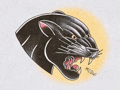 Panther Head ipadpro illustration